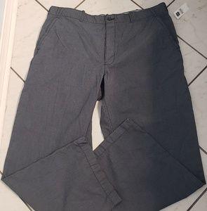 Nwt. Gap xxl 100% cotton gray pinstripe pants